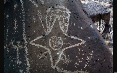 Ancient Map Depicts Underground Mountain Base, Spaceships, Mantis Beings in NM [VIDEO]