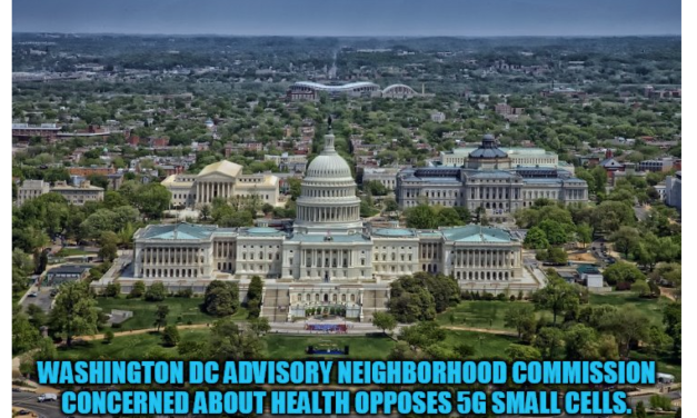 Washington, DC Advisory Neighborhood Commissions Concerned About Health Opposes 5G in New Resolution