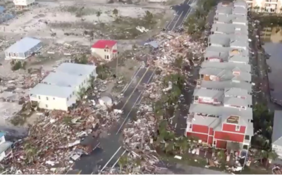HERE ARE BEFORE AND AFTER AERIAL IMAGES OF FLORIDA'S PANHANDLE POST MICHAEL