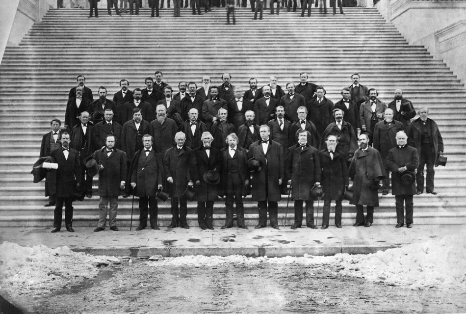 19th century photographs of the US Government in session prior to 1865. Where are they?