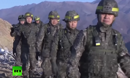RAW: Troops from two Koreas check removal of each other's border posts [VIDEO]