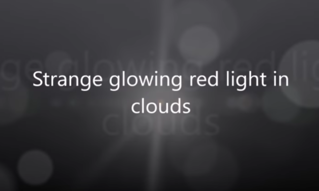 Strange glowing red light in clouds over Alberta, Canada [VIDEO]