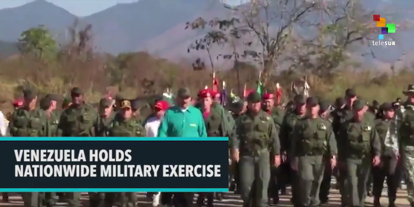 Venezuela Holds Nationwide Military Exercise [VIDEO]