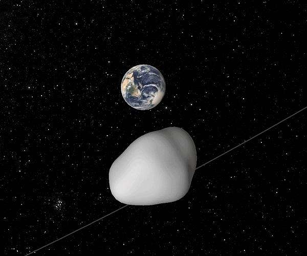 Large Asteroid Skims Past Earth