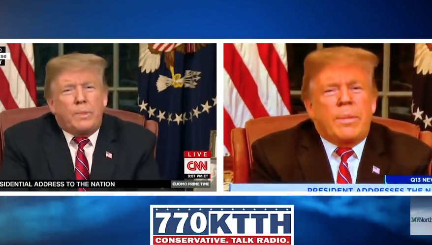 Seattle TV Station Caught Doctoring Trump's Face During National Address