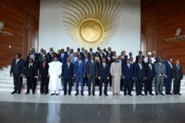 African Union leaders gathered at opening session of 32nd summit