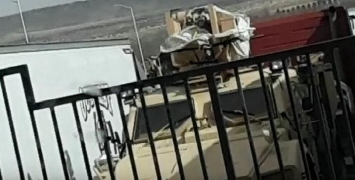 Military Hauling Generators, Large Amount of Transformers In Colorado [VIDEO]