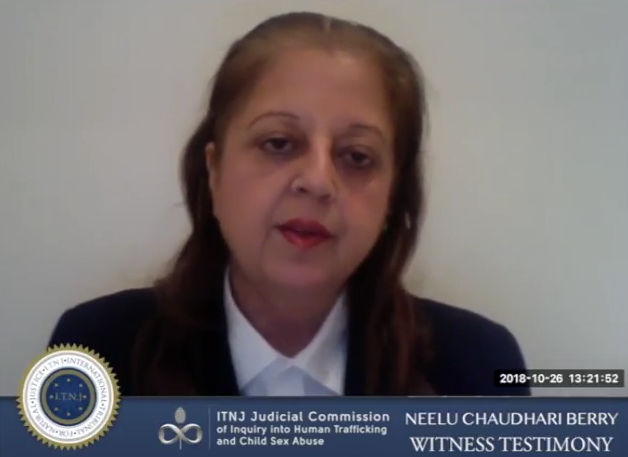 Neelu Chaudhari Berry ITNJ Witness Testimony [VIDEO]