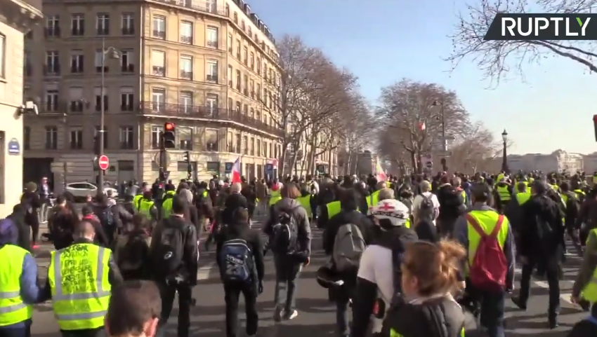 Yellow Vest protest in Paris: Week 14 [VIDEO]