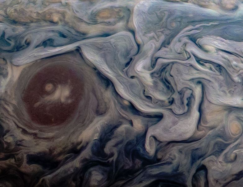 New Jupiter photo from NASA's Juno spacecraft is utterly gorgeous