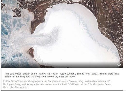 Russian Arctic glacier goes from moving 60 feet a year to 60 feet a day