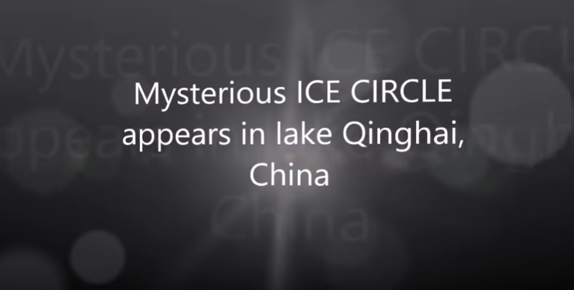 Mysterious ICE CIRCLE appears in lake Qinghai, China [VIDEO]