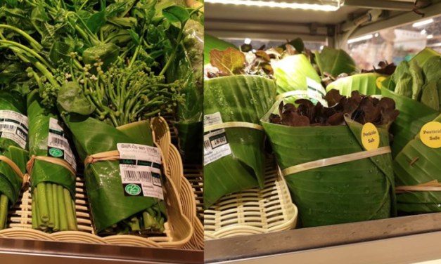 Thai Supermarket Replaces Plastic Packaging With Banana LeavesTo Reduce Waste
