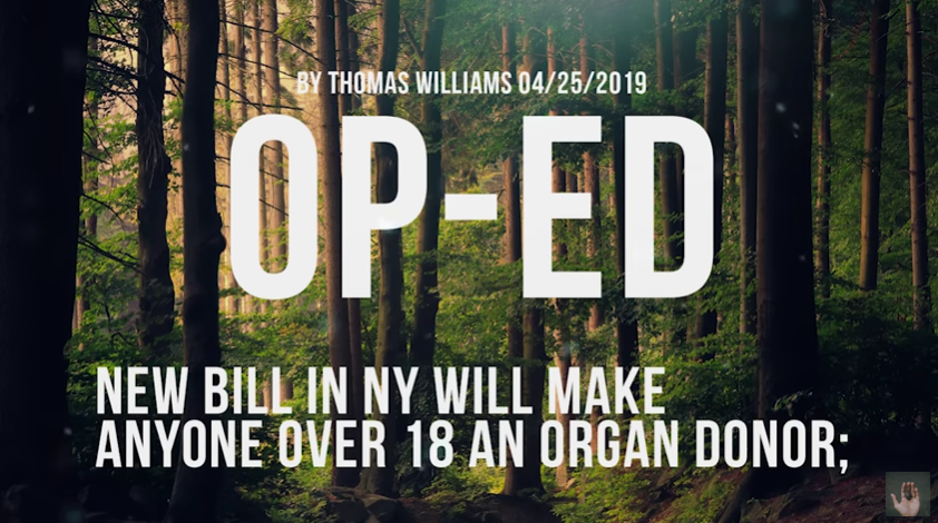 New bill in NY will make anyone over 18 an organ donor; [VIDEO]