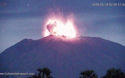 Spectacular eruptions of Agung (Indonesia) and Sarychev (Russia) volcanoes – Increased seismic activity of Kusatsu Shirane, and Hakoneyama volcanoes (Japan) [VIDEO]
