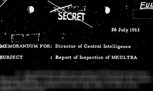 Report of Inspection of MKULTRA, 26 July 1963 (Proper FOIA Citations)