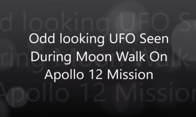Odd looking UFO Seen During Moon Walk On Apollo 12 Mission [VIDEO]