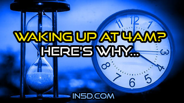 Waking Up At 4AM? Here's Why…