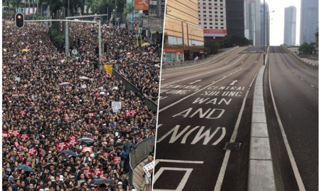 2 MILLION ACTIVISTS MARCHED IN HONG KONG, SUCCEEDED, THEN CLEANED THE STREETS UP AFTER