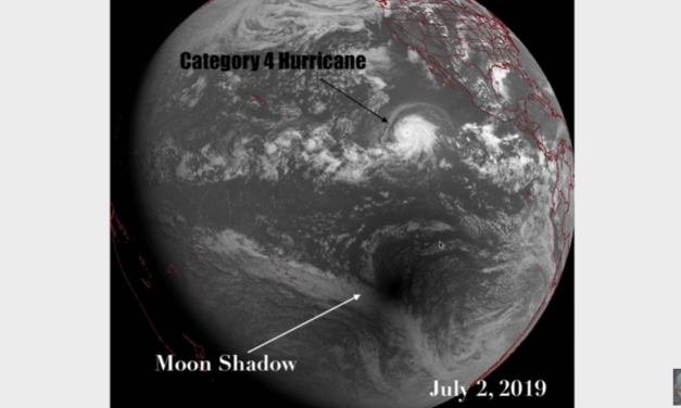 Eclipse Shadows ALL OVER the top of a Towering Major Hurricane – Best Seat in the House!