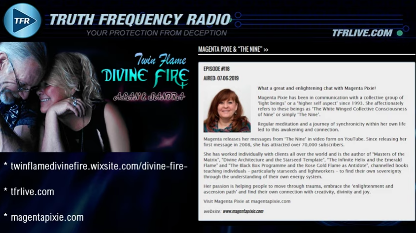 Magenta Pixie on Twin Flame Divine Fire [VIDEO]