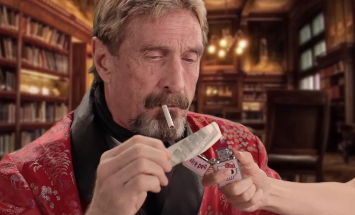 John McAfee apparently in London after detainment