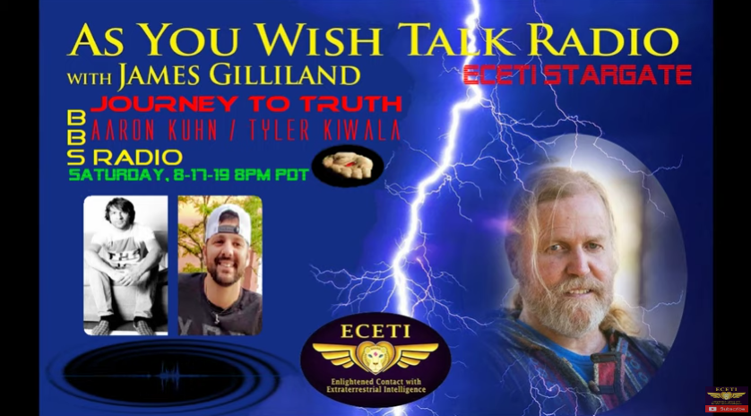 Journey To Truth BBS As You Wish Talk Radio Saturday 8-17-19 8pm PDT