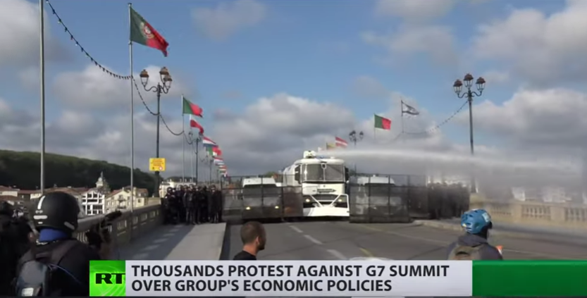Thousands protest against G7 summit over group's economic policies [VIDEO]