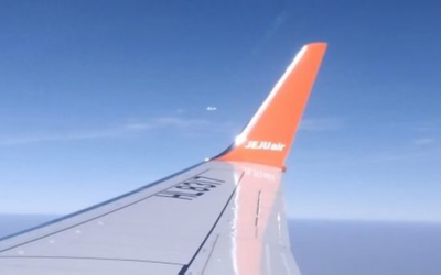 Plane passengers stunned as 'UFO splits into six pieces and vanishes in mid-air'