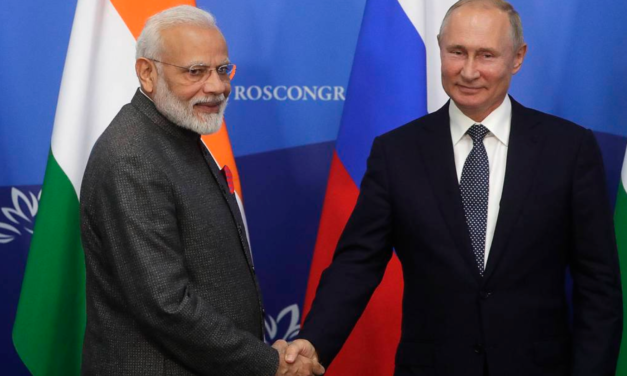 Russian President Vladimir Putin, Indian Prime Minister Narendra Modi call for legal binding tool to prevent all weapons in space