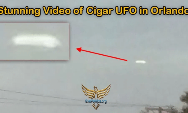 Stunning Video of Cigar UFO in Orlando, Florida