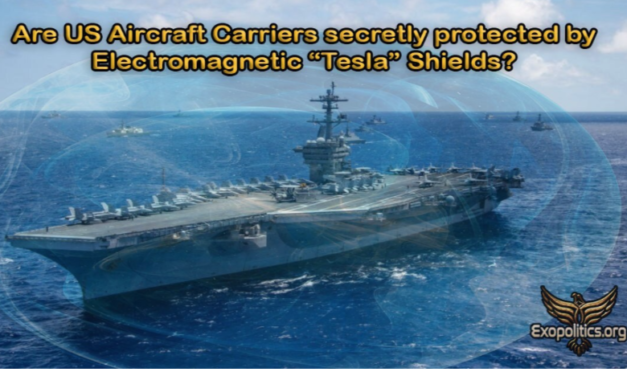 "Are US Aircraft Carriers secretly protected by Electromagnetic ""Tesla"" Shields?"